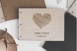 Drewniany album ślubny