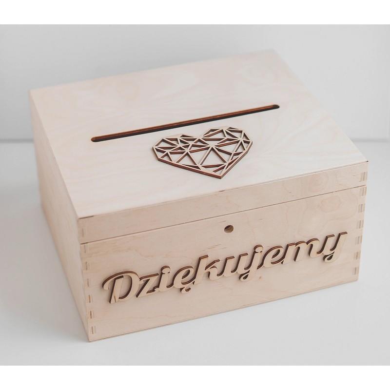 Drewniane pudełko na koperty
