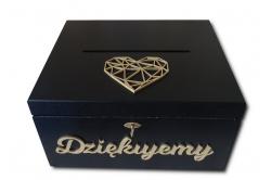 Czarne pudełko na koperty weselne
