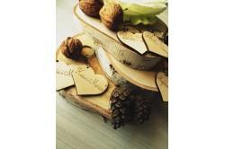 breloki z grawerem Drewniane