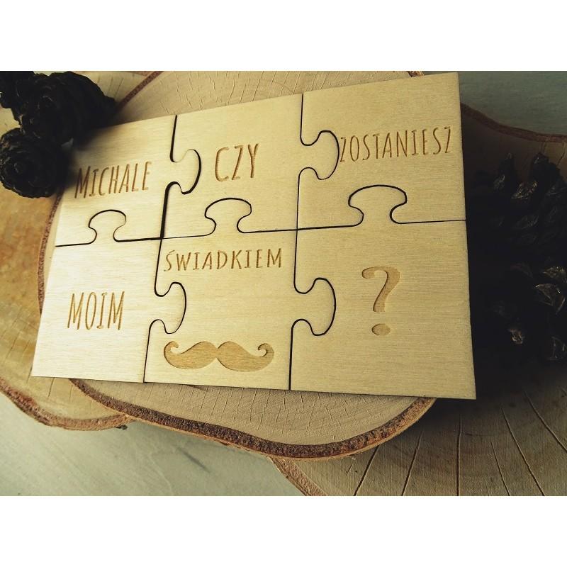 Prośba o świadkowanie - puzzle