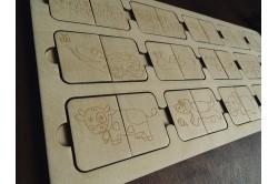 Drewniana układanka dla dzieci