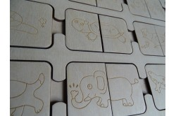 Drewniana układanka dla dzieci dla 2 latka