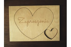 Drewniane Zaproszenia ślubne dla rodziców