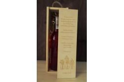 Drewniana skrzynka na wino z grawerem na dzień matki