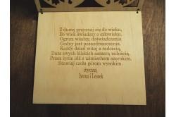 Drewniana kartka na urodziny