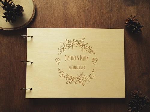 drewniana księga gości do fotobudki