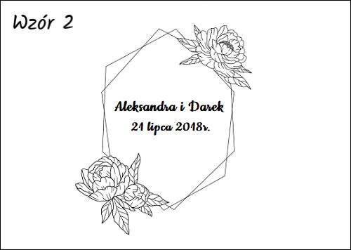 Księga gości z czarnymi kartkami wzór 2