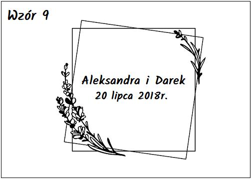 Księga gości z czarnymi kartkami wzór 9