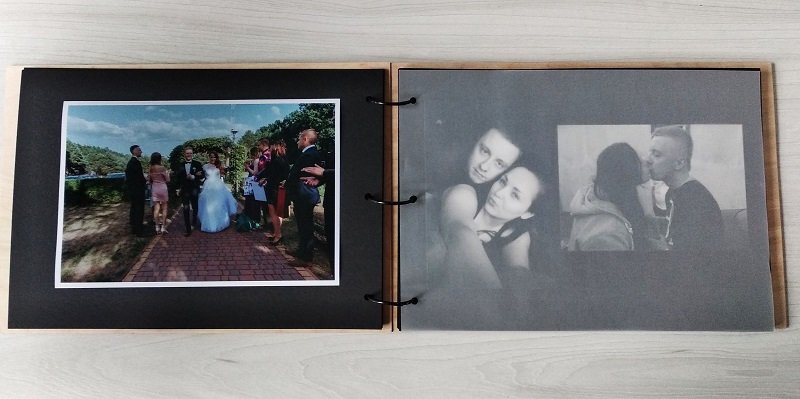 album na zdjęcia ślubne z przekładkami